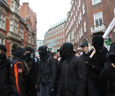 Londra karıştı! Gözaltılar var