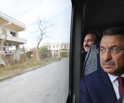 Cumhurbaşkanı Yardımcısı Fuat Oktay, kapalı Maraş'ı ziyaret etti