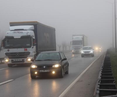Kocaeli'de yoğun sis trafiği yavaşlattı