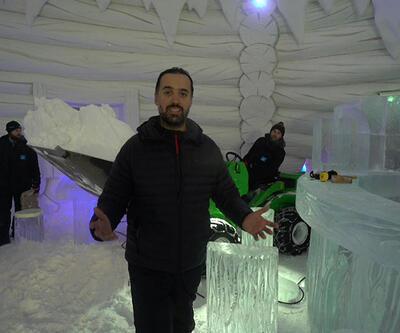 Arda Sayıner, Norveç'te buzdan otelin yapımını görüntüledi