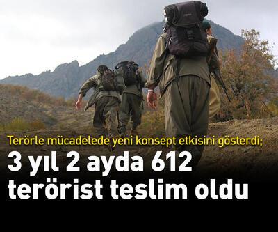 3 yıl 2 ayda 612 terörist teslim oldu