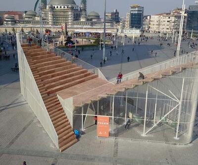 """Taksim'deki '""""Geçici Sergi Platformu""""nun kaldırılması için süre doluyor"""