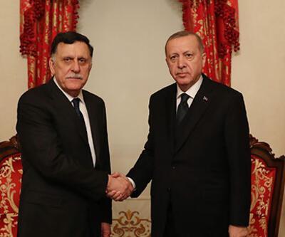 Cumhurbaşkanı Erdoğan, UMH Başkanı Sarraj'ı kabul etti