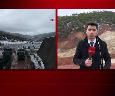 Çatlaklar oluşan barajda son durum