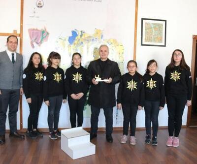Başkan Özgan'dan lise öğrencilerinin projesinedestek