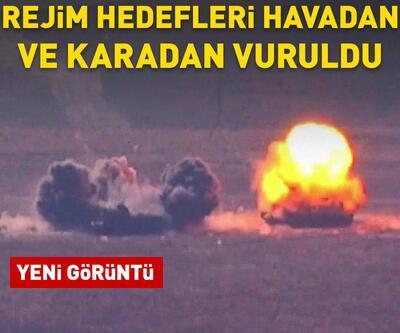 Rejim hedefleri havadan ve karadan vuruldu