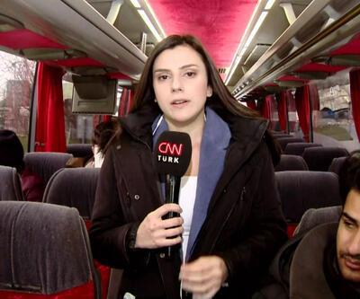 Zeytinburnu'nda toplanıp otobüslere biniyorlar