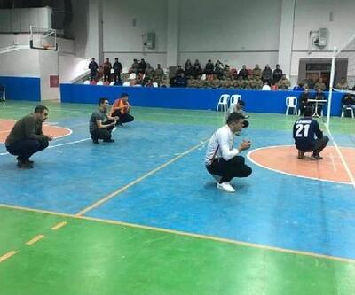 İmranlı'da voleybol maçında şehitler anıldı