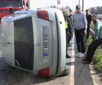 Yarış yapan araçlar yüzünden kaza yaptı