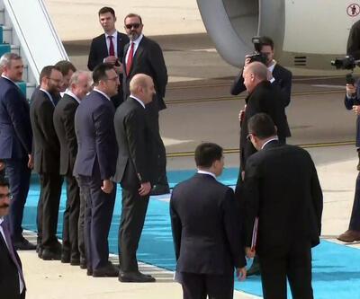 Cumhurbaşkanı Erdoğan Brüksel'e gitti: Havalimanında 'koronavirüs' detayı...