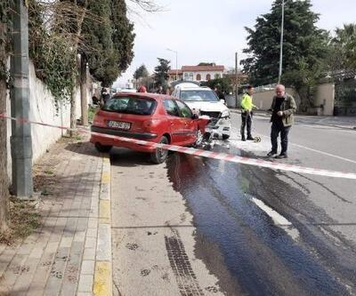 Otomobil ile cip çarpıştı: 3 yaralı