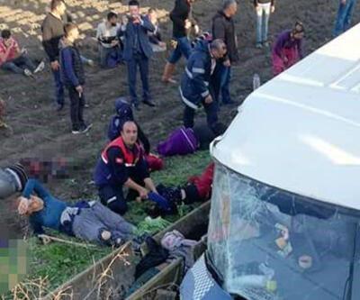 İşçileri taşıyan otobüs şarampole yuvarlandı: Ölü ve yaralılar var