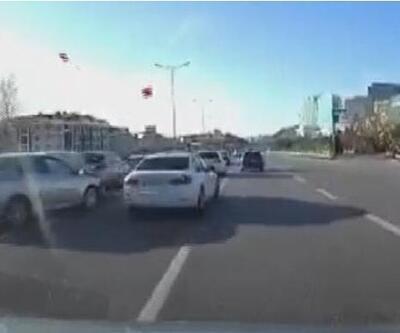 Durduğunu fark edemedi, otomobile çarptı