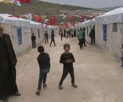 Savaş mağdurlarına İdlib kırsalında 2 bin briket ev yapıldı