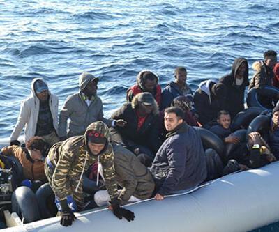 Yunanistan Sahil Güvenlik ekiplerince engellenen 34 göçmen kurtarıldı
