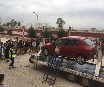 Silopi'de öğrencilere trafik eğitimi