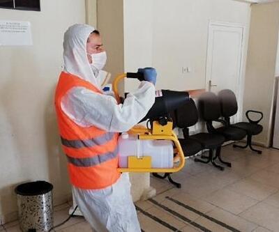 Kırıkhan'da koronavirüs dezenfekte çalışmaları