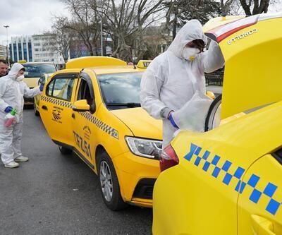 İstanbul'daki taksilere dezenfektasyon çalışması başladı