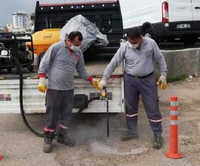 Nurdağı Belediyesi'nde dezenfekte çalışması