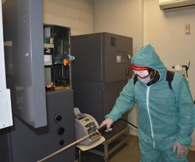 Beytüşşebap'ta koronavirüse karşı dezenfeksiyon