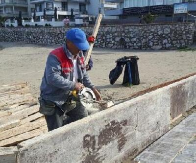 Güzelyalı sahilindeki kayalık alan seyir terasına dönüştürülüyor
