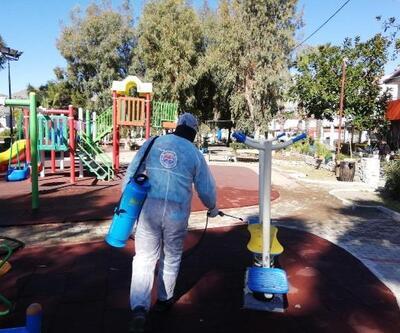 Marmaris'te dezenfekte çalışmaları sürüyor