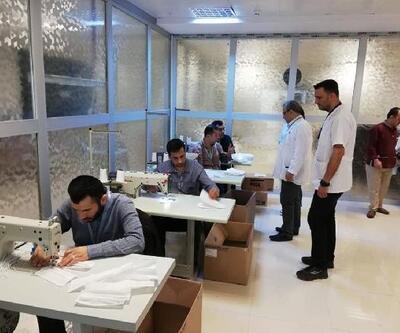 Hatay Devlet Hastanesi, günde bin 500 maske üretiyor