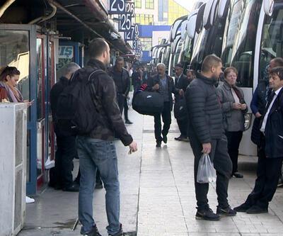 Otobüs seferleri 17:00'den itibaren durduruldu