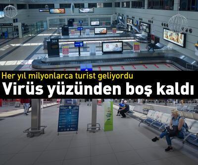 Antalya Havalimanı boş kaldı