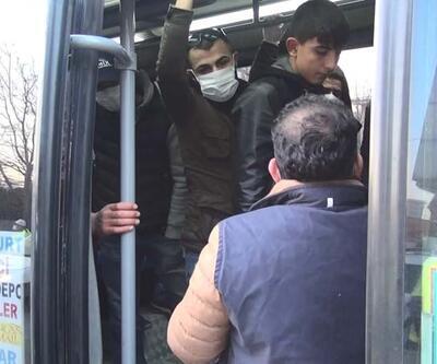 Fazla yolcu alan minibüs sürücülerine ceza kesildi