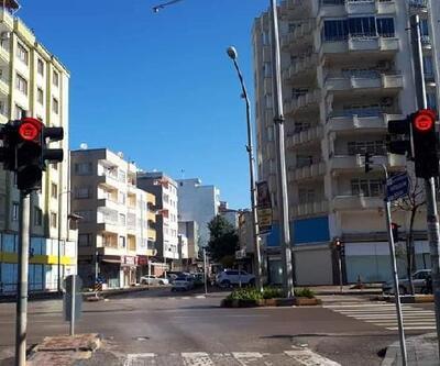 Kilis'te, trafik ışıklarıyla mesaj