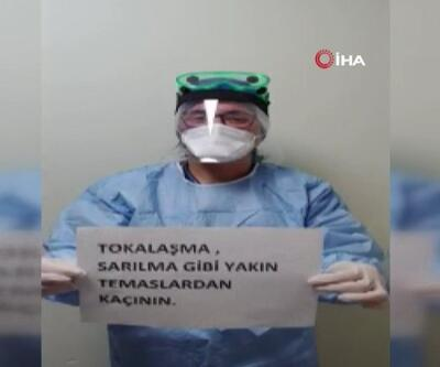 Sağlık çalışanlarından koronavirüs klibi