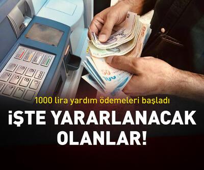 1000 lira yardım ödemeleri başladı!