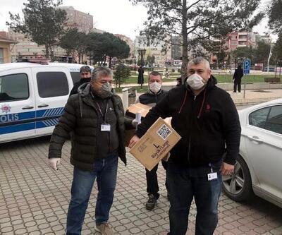 Güney Kore firması, maske ve eldiven hediye etti