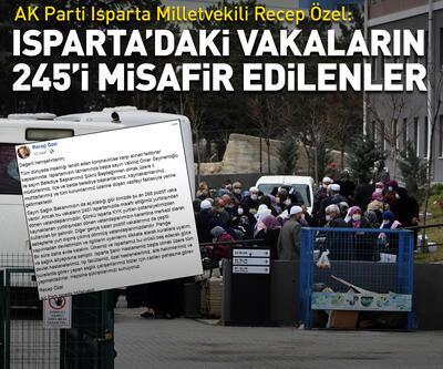 Isparta'daki koronavirüs vakalarının 245'i misafir edilenler