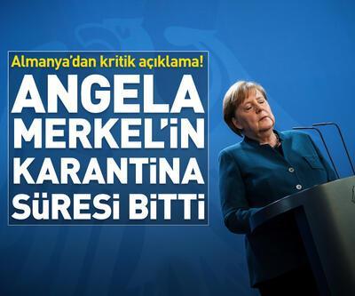 Angela Merkel'in karantina süresi bitti...