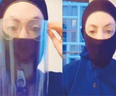 Farklı maskeler yaptı