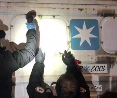Ekvador'dan Mersin'e getirilen gemiye operasyon! 48 kilo kokain ele geçirildi