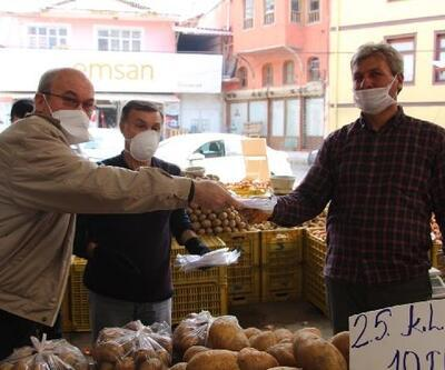 Esnaf Kefalet'ten pazar esnafına maske ve eldiven desteği
