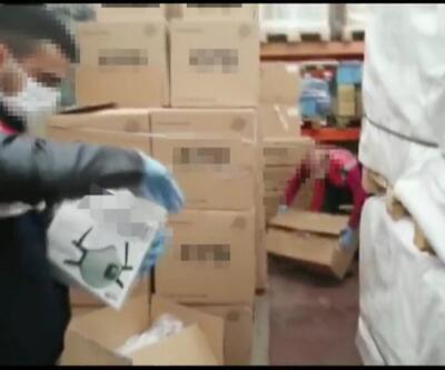 Arnavutköy'deki operasyonda 11 bin filtreli maske ele geçirildi