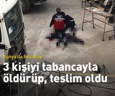 3 kişiyi tabancayla öldürüp, teslim oldu