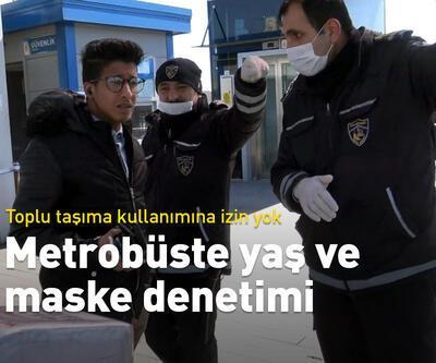 Metrobüste yaş ve maske denetimi