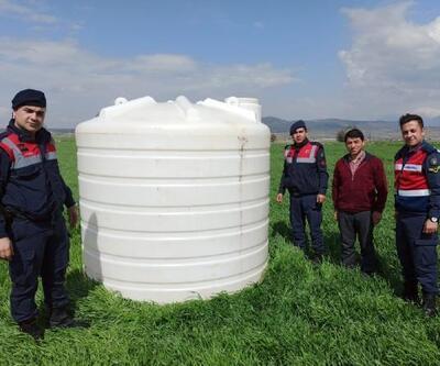 Çalınan su tankı bulundu