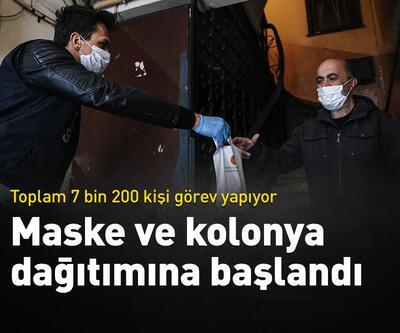 İstanbul'da maske ve kolonya dağıtımına başlandı
