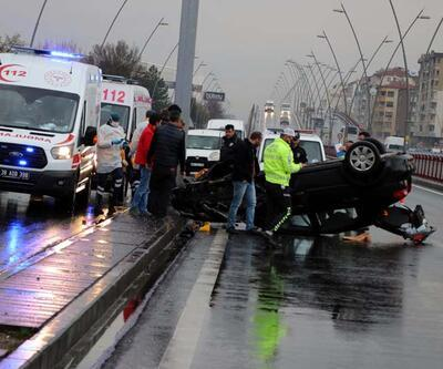 Feci kazadan yara almadan kurtuldu