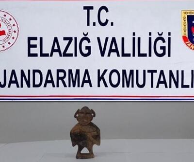 """""""Hitit"""" dönemine ait heykel ele geçirildi"""
