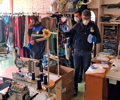 Çiftlikköy'de kaçak üretilen çok sayıda maske ele geçirildi