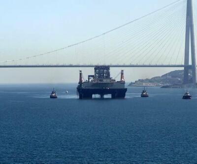 Dev petrol arama platformu İstanbul Boğazı'ndan böyle geçti