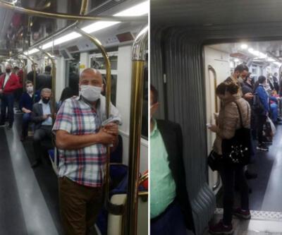 İzmir'de, metroda doluluk tepkisi