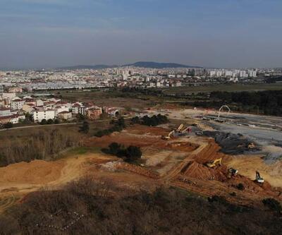 Sancaktepe'de yapılan hastanene inşaatındaki son durum